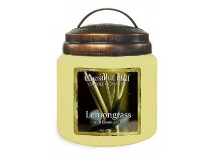 Chestnut Hill Vonná svíčka ve skle Citronová tráva - Lemongrass, 16oz