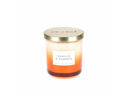 DW Home Vonná svíčka ve skle Vanilla & Pumpkin 15,1oz
