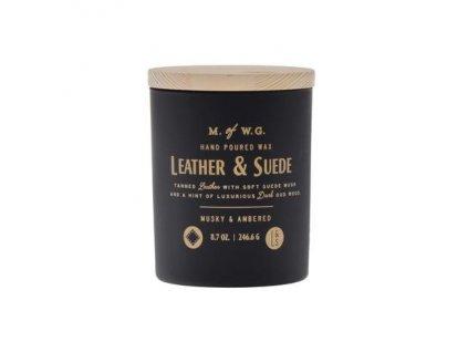 Makers of Wax Goods Vonná svíčka ve skle Leather & Suede 8,7oz