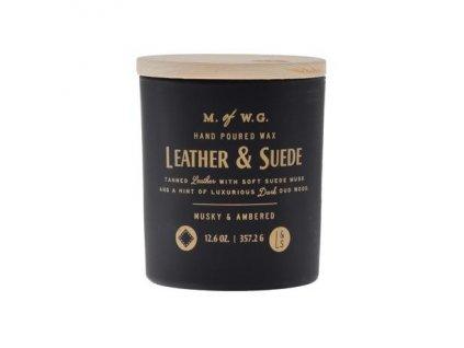 Makers of Wax Goods Vonná svíčka ve skle Leather & Suede 12,6oz
