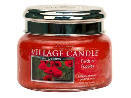 Village Candle Vonná svíčka ve skle - Fields Of Poppies, 11oz