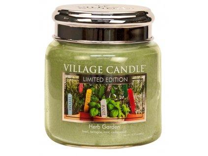 Village Candle Vonná svíčka ve skle - Herb Garden, 16oz