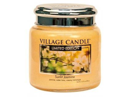 Village Candle Vonná svíčka ve skle - Sunlit Jasmine, 16oz