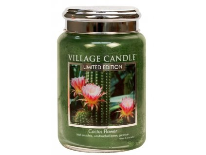 Village Candle Vonná svíčka ve skle - Cactus Flower, 26oz