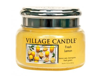 Village Candle Vonná svíčka ve skle - Fresh Lemon, 11oz