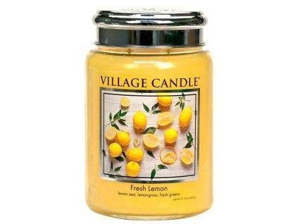 Village Candle Vonná svíčka ve skle - Fresh Lemon, 26oz