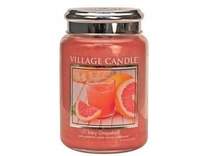 Village Candle Vonná svíčka ve skle - Juicy Grapefruit, 26oz