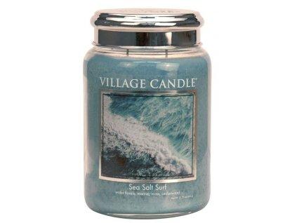 Village Candle Vonná svíčka ve skle, Mořský Příboj - Sea Salt Surf, 26oz