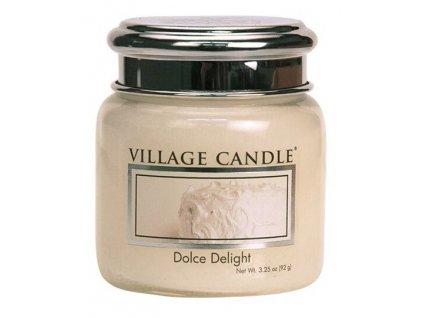 Village Candle Vonná svíčka ve skle, Sametové Potěšení - Dolce Delight, 3,75oz