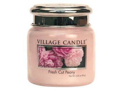 Village Candle Vonná svíčka ve skle, Pivoňky - Fresh Cut Peony, 3,75oz
