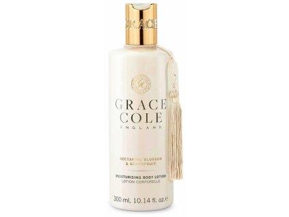 Grace Cole Hydratační tělové mléko - Nectarine Blossom & Grapefruit, 300ml