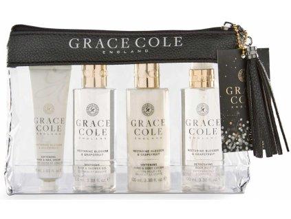Grace Cole Dámská cestovní sada - Nectarine Blossom & Grapefruit, 4ks