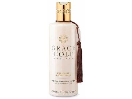 Grace Cole Hydratační tělové mléko - Oud Accord & Velvet Musk, 300ml