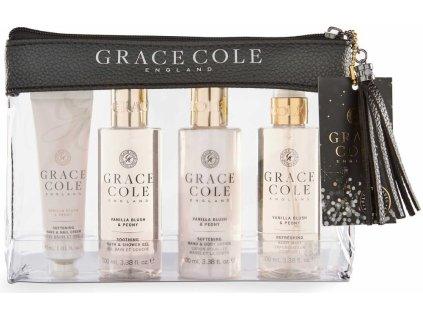 Grace Cole Dámská cestovní sada - Vanilla Blush & Peony, 4ks