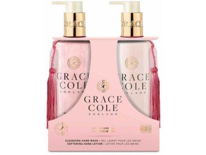 Grace Cole Tekuté mýdlo na ruce a Jemné mléko na ruce - Vanilka & Santalové Dřevo, 2x300ml