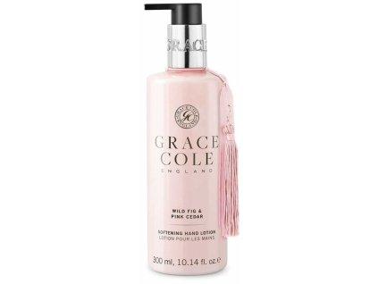 Grace Cole Jemné mléko na ruce - Wild Fig & Pink Cedar, 300ml
