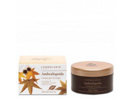 L'Erbolario Vyživující tělový krém - Ambraliquida 250ml