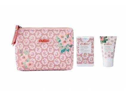 Heathcote & Ivory Toaletní taška (krém na ruce+dezinfekce) - Freston Cassis & Rose 30+15ml