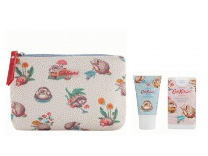Heathcote & Ivory Kosmetická taška (krém na ruce 30ml+ dezinfekce 15ml) - Hedgehogs