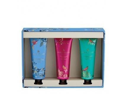 Heathcote & Ivory Sada hydratačních krémů na ruce - Trilogy pink, blue & green, 3x30ml