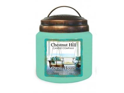Chestnut Hill Vonná svíčka ve skle Dům na pláži - Beach House, 16oz
