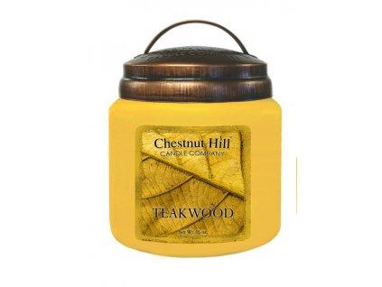 Chestnut Hill Vonná svíčka ve skle Teakové dřevo - Teakwood, 16oz