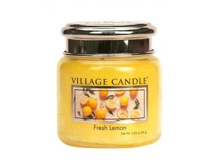 Village Candle Vonná svíčka ve skle, Fresh Lemon 3,75oz