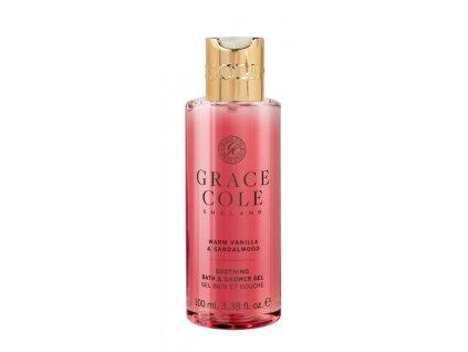Grace Cole Sprchový gel v cestovní verzi - Warm Vanilla & Sandalwood, 100ml