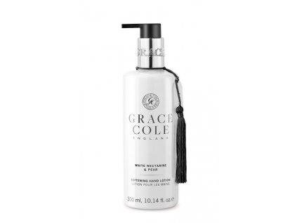 Grace Cole Jemné mléko na ruce - Bílá nektarinka & Hruška, 300ml