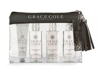 Grace Cole Dámská cestovní sada - White Nectarine & Pear, 4ks