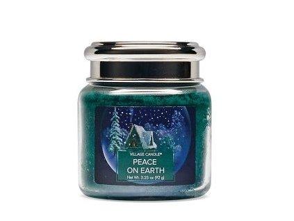 Village Candle Vonná svíčka ve skle, Mír na Zemi - Peace On Earth 3,75oz