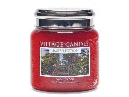 Village Candle Vonná svíčka ve skle, Jabloňové Dřevo - Apple Wood 16oz