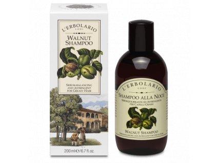L´Erbolario Čisticí šampon pro mastné vlasy - Vlašský ořech, 200ml