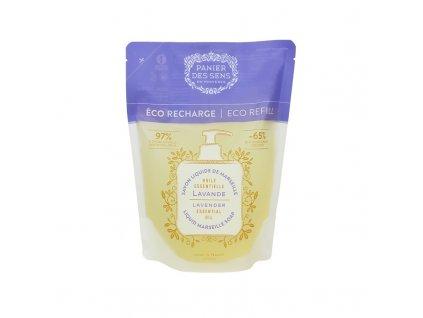 Panier des Sens Tekuté mýdlo náhradní náplň - Levandule 500ml