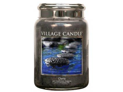 Village Candle Vonná svíčka ve skle - Jasná mysl - Clarity, 26oz