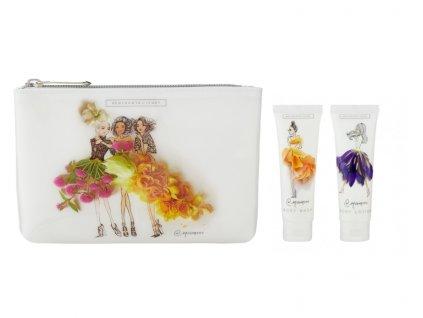 Heathcote & Ivory Kosmetická taška (tekuté mýdlo na ruce+tělové mléko)- Meredith Wing 2x30