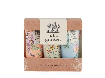 Heathcote & Ivory Sada krémů na ruce a nehty s bambuckým máslem - In the garden 3x30ml