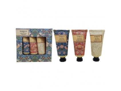 Heathcote & Ivory Sada krémů na ruce - Strawberry thief, 3x30ml