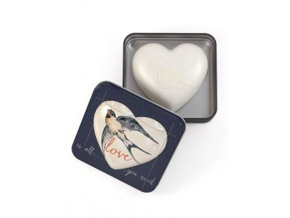 Somerset Toiletry Mýdlo v plechu - Love is all you need, 150g