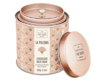Scottish Fine Soaps Sypký prášek do koupele - La Paloma, 500g