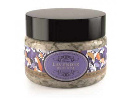 Somerset Toiletry Koupelová sůl - Levandule + Květy levandule, 550g