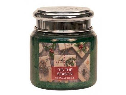 Village Candle Vonná svíčka ve skle - Vánoční čas - 'Tis the Season, 3,75oz