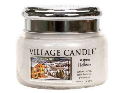 Village Candle Vonná svíčka ve skle - Prázdniny na horách - Aspen Holiday, 11oz