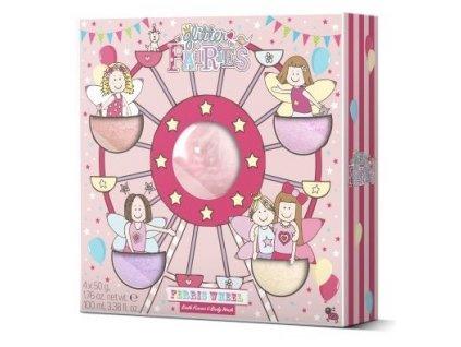 Grace Cole Dárková sada (Sprchový gel 100ml, Šumivá koule do koupele 4x50g)-Ferris Wheel