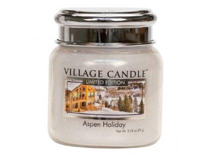 Village Candle Vonná svíčka ve skle - Prázdniny na horách - Aspen Holiday, 3,75oz