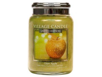 Village Candle Vonná svíčka ve skle - Zářivé Jablko - Glam Apple, 26oz