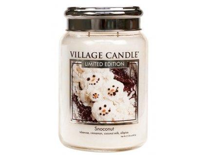 Village Candle Vonná svíčka ve skle - Snoconut, 26oz