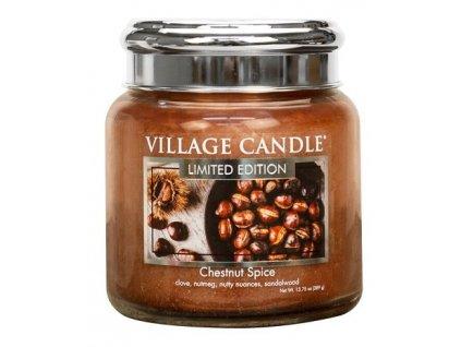 Village Candle Vonná svíčka ve skle - Chestnut Spice, 16oz