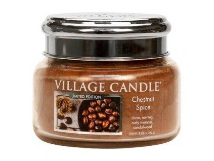 Village Candle Vonná svíčka ve skle - Chestnut Spice, 11oz