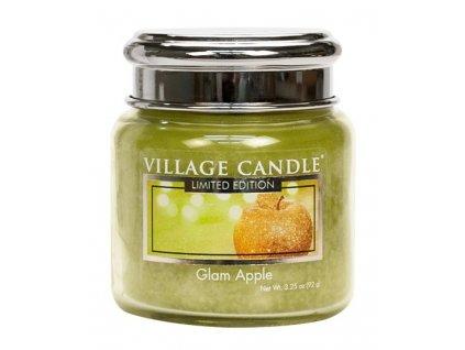 Village Candle Vonná svíčka ve skle - Glam Apple, 3,75oz